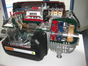Schnitmodell des Turbo-Kompressors